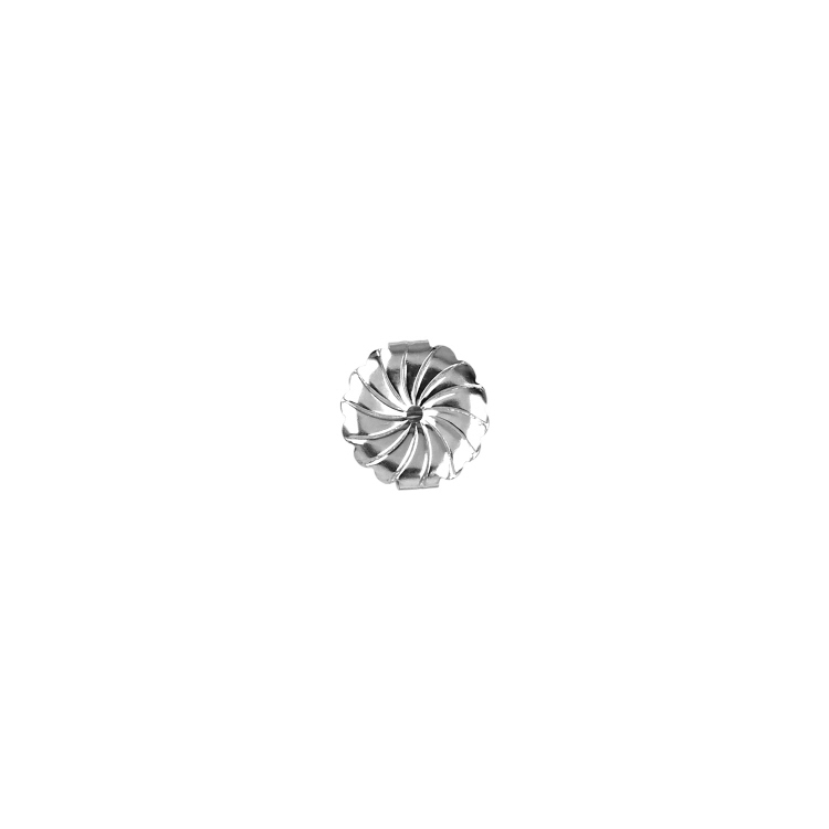 Earnuts  Jumbo Daisy (9.5mm OD)   - Sterling Silver