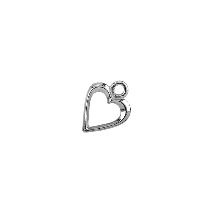Plain Heart Toggle Clasps  large   - Sterling Silver