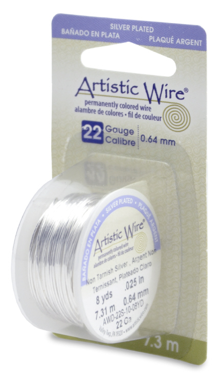 Artisitic Wire 22 guage 10 yd - Silver Plated, Tarnish Resistant