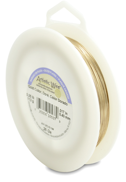 Artisitic Wire 26 guage 1/4 lb - Silver Plated, Gold Color