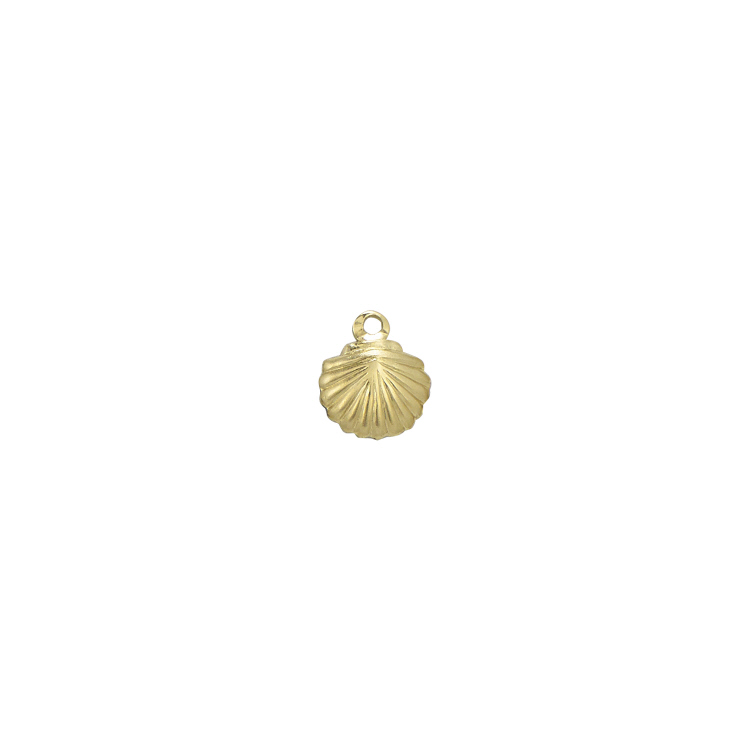 Charm Shell Gold Filled 8.5 x 7mm