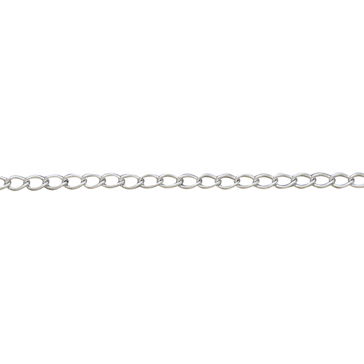 Curb Chain - Silver Plated