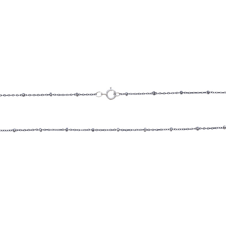 Satellite Chain with Bright Silver Diamond Cut Beads 18