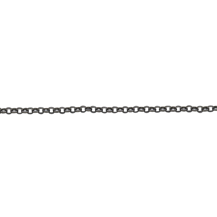 Rolo Chain 2.4mm - Sterling Silver Black Rhodium Plated
